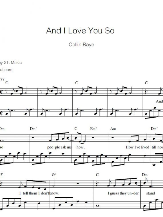 And I You So (Collin) piano