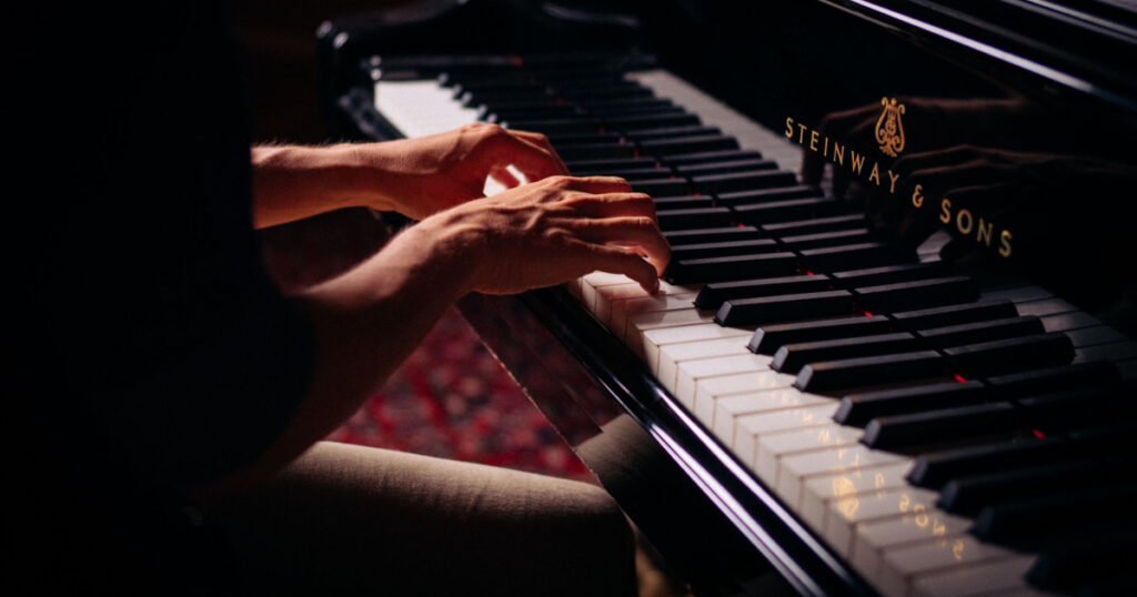 warm up before practice piano